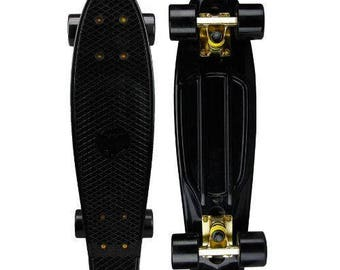 """BRAND NEW Penny Style Board ABEC-7 Skateboard 22"""" Black and Gold"""