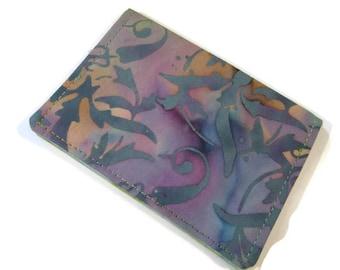 Batik wallet, Business card holder, Fabric ID card wallet, Gift card holder, Small Bi-fold wallet, Mini wallet, Credit card holder