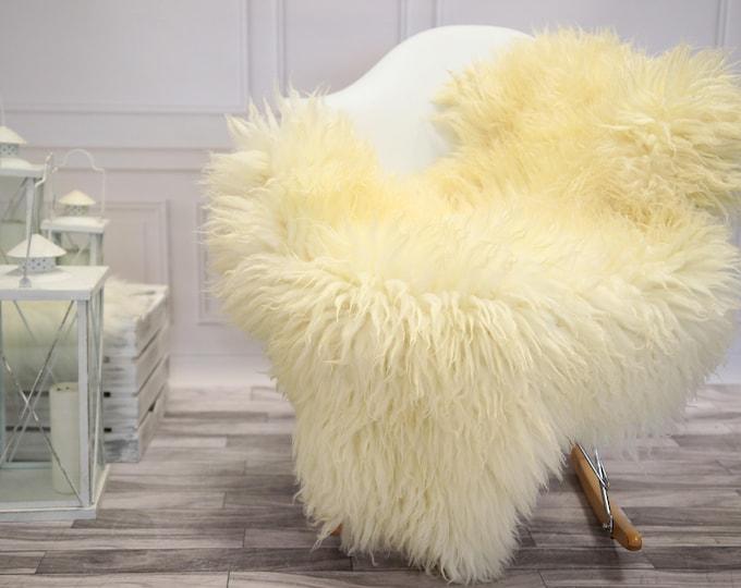 Genuine Rare Gotland Sheepskin Rug - Curly Fur Rug - Natural Sheepskin - Ivory  Sheepskin #DECGOT11