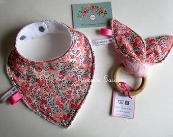 Mini baby box - bandana bib + rattle bunny ears - in stock