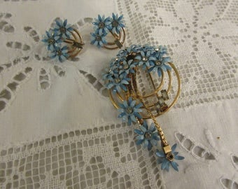 CORO BROOCH and EARRINGS