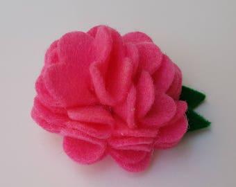Felt flower hairclip, felt flower hair clip, felt flower, felt hairclip, flower hair clip, felt flower, pink felt flower, pink flower
