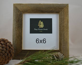 Barnwood Picture Frame / Barn wood frame / Rustic frame / Reclaimed wood 6x6