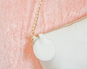 Small shoulder bag, leather crossbody bag,  leather purse, women leather purse, white evening clutch, gift for her, valentine's day gift