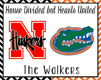 House Divided//College Football Team Print