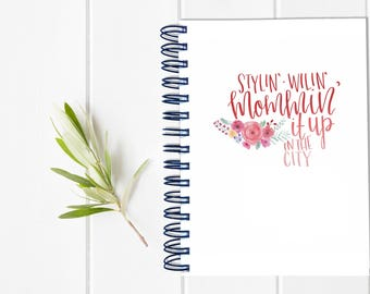 Large Undated Mom Planner - One Year Fill in Calendar Planner Notebook - Mother Hustler Weekly Planbook - Monthly Weekly Mom Boss Schedule