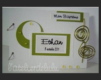 Christening guest book ' ethan