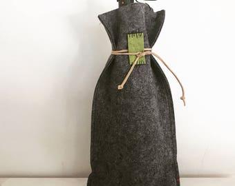 Wool Felt Wine Bag