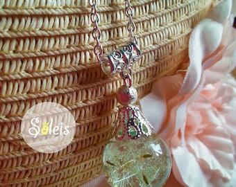 Necklace dandelion bubble