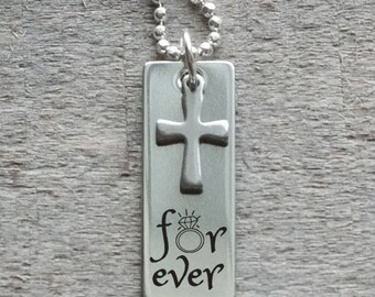 Forever Personalized Tag and Cross Necklace