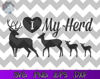 I Love My Herd SVG Cut File