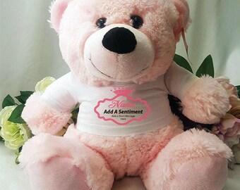 Personalised Mum/Nana/Grandma Bear - Light Pink