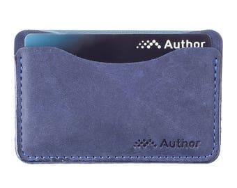 slim wallet / credit card holder / leather card case / multiple card case / card case / oyster holder / minimalist / genuine leather