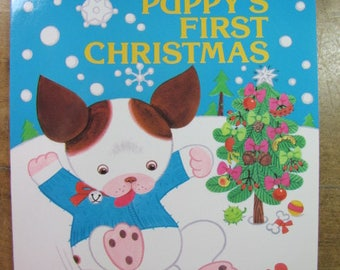 1988 Poky Little Puppy's First Christmas Coloring Activity Book New Old Stock
