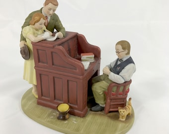 Norman Rockwell's The MARRIAGE LICENSE Ceramic Figurine of the June 1955 Saturday Evening Post Cover - 1991  Goebel United States