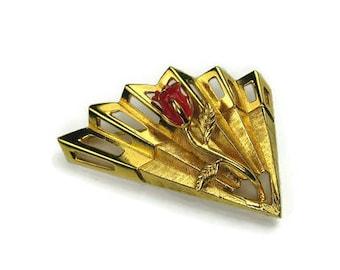 Napier Fan Rose Pin