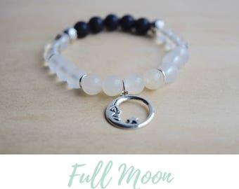 Moonstone Bracelets / boho bracelet ideas, meditation bracelets, spiritual mom gift, gift for yoga mom, yoga energy bracelet, clear quartz