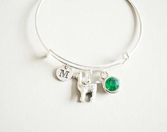 Llama Gift, Birthday Gift for her, Llama Bracelet, Lama Gift, Animal Bracelets, Llama Jewelry, Llama Bangle, Friend, Lama,Birthday gift idea
