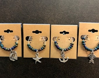 Set of 4 Nautical Wine Charms