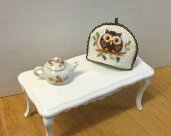Tea cozy embroidered miniature