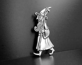 Gandalf the White silver brooch
