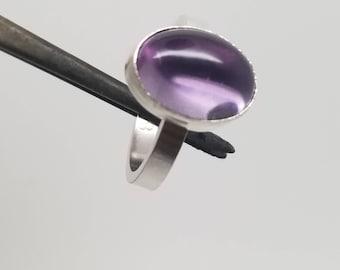 Amethyst gemstone 925 sterling silver 14k gold filled ring