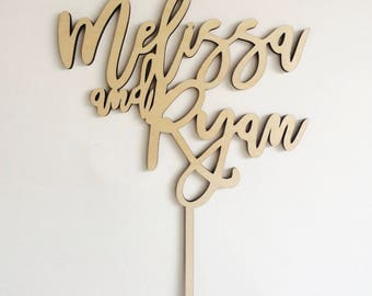 Personalized Name Topper,Mr and Mrs Cake Topper, Custom Wedding Cake Topper, Custom First Name Cake Topper, Wedding Cake, Bride and Groom