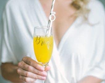 Diamond Ring, Drink Stirrer, Gold Swizzle Sticks, Bridal Shower, Engagement Party, Wedding Stir Sticks,Cocktails,Bachelorette,Laser Cut,6 Pk