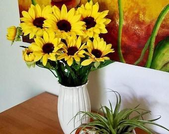 Sunflower Stem- Artificial Floral Craft Supplies (Single)