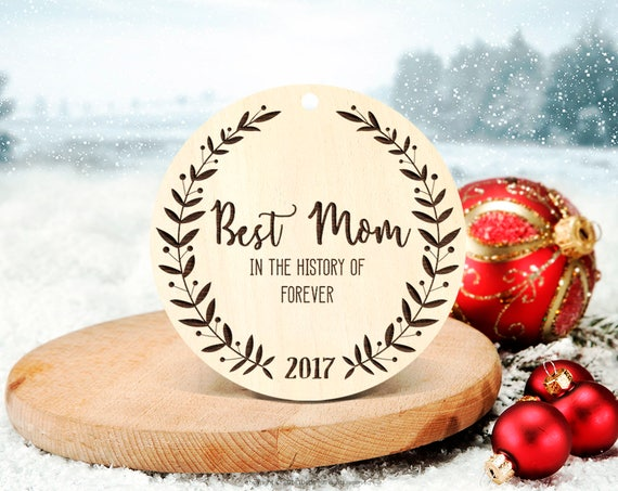 Parents Christmas gift Best Mom Christmas Tree Ornament Keepsake Christmas Ornament Mother's Day Gift Christmas Ornament Unique Ornament 26