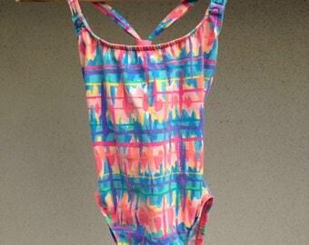 Vintage Neon Swimsuit