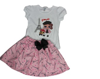 LOL Dolls Birthday Outfit LOL Dolls Personalized LOL Doll dress Lol Dolls outfits  Girl Lol Dolls Birthday Shirt skirt Lol Dolls Birthday