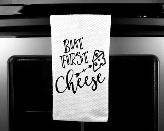 Bit First Cheese | Microfiber | Kitchen Towel | Waffle Weave | Drying Cloth