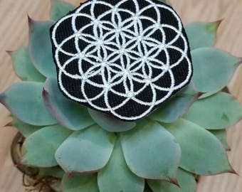 Iron on patch - Sacred geometry flower of life