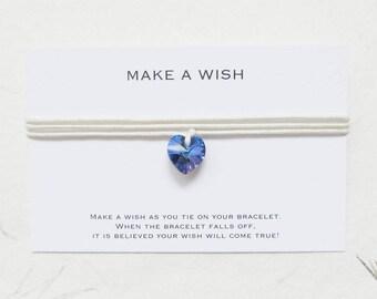 Wish bracelet, make a wish bracelet, swarovski bracelet, love bracelet, W68