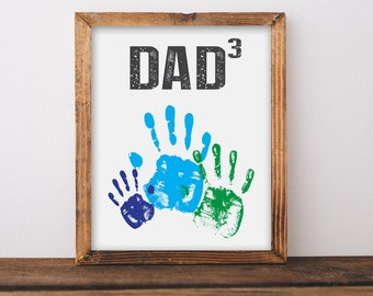 FATHER'S DAY gift - Father's Day printable - Gift for dad - DIY handprint gift - Printable Father's Day Gift - Dads day gift