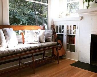 "2"" Tufted Wool-Filled Bench Cushion / Window Seat / Oeko-tex certified materials / IKEA Kallax / Custom sizes on request"