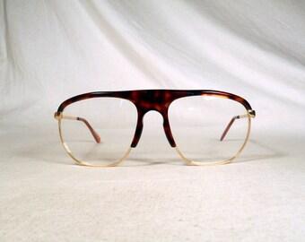 fabulous vintage sunglasses lunettes eyeglasses BUGATTI aviator pilot carved frame france
