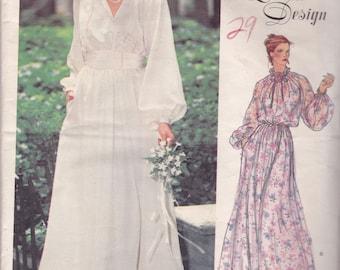 Vogue 2053 Vintage Pattern Womens Wedding Gown or Bridesmaid Dress Size 14 Bust 36 UNCUT