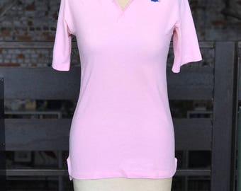 70s Vintage Izod Lacoste Pink Polo Shirt