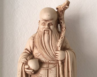Chinese Star God figure from the 1940s to 50s, God of longevity.