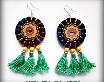 Mexican style earrings-black