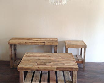 Reclaimed Recycled Wood Coffee Table Rustic Vintage Modern Accent Living  Room Furniture Rectangle Recycled Large Custom