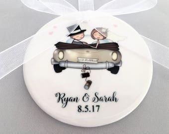 Just Married Wedding Ornament, Wedding Ornament, Wedding Ornaments, Wedding Car Ornament, Wedding Car Ornament, Wedding Gift, Wedding Gifts