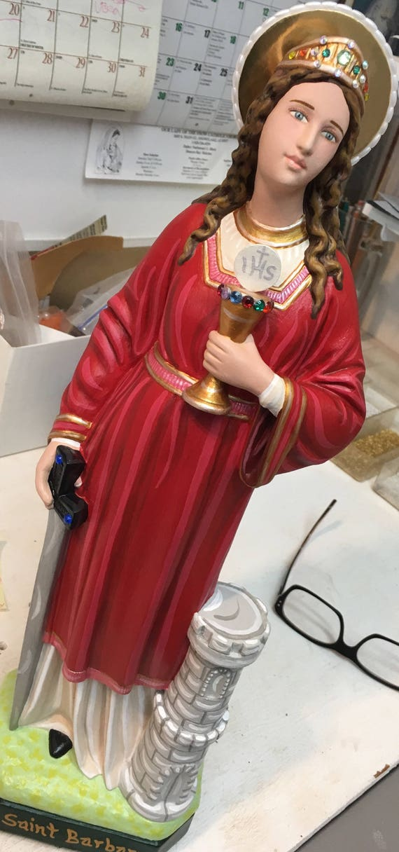 """St. Barbara 18"""" Patron of Fire Fighters"""
