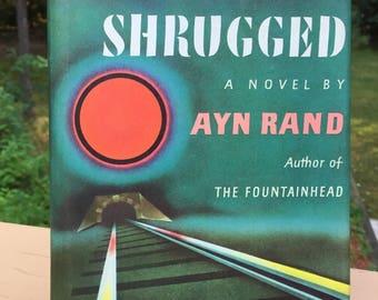 Atlas Shrugged by Ayn Rand - Vintage 1957 Hardcover, 13th Printing