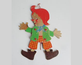 Cute 40s 50s Vintage Jumping Jack In Lovely Colors