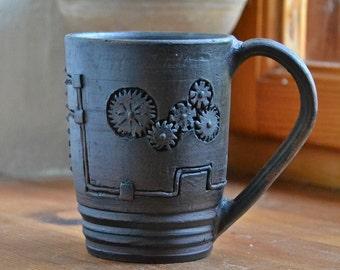 Ceramic mug, Clay mug, Pottery cup, Gift boss, Gift boyfriend , Gift for man