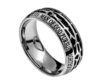 """Crown Of Thorns Ring """"Man Of God"""""""
