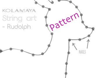 String art Pattern + Instructions - Rudolph